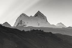 Nevado Huandoy, Peru (Inti Runa) Tags: ngc canonef70200mmf4lisii canoneos5dmarkiv landscape peru huandoy cordilleradelosandes mountain southamerica tourism travelphotography adventure blackwhite