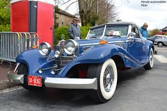 "Mercedes 500K W29 ""réplique"" (Monde-Auto Passion Photos) Tags: voiture vehicule auto automobile mercedes 500k w29 cabriolet convertible roadster spider sportive bleu blue ancienne classique rare rareté collection rassemblement france courtenay"