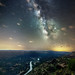 The Milky Way over the Rio Grande from White Rock Overlook, near Los Alamos, New Mexico