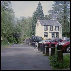 Railway Inn_0004 (Phil John (Swansea)) Tags: swansea swanseabay clyne lovewhereyoulive mamiyac330 mamiya kodak portra 400 filmisnotdead filmisalive ishootfilm buyfilmnotmegapixels 6x6 mediumformat 120film
