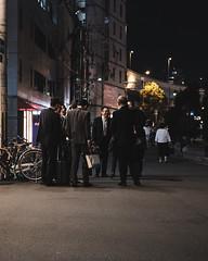 Salary man (Budgetographer) Tags: japan osaka fujifilm fuji xt2 35mm f2 dark cinematic night street