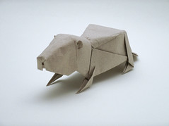 Groundhog (wilson_origami) Tags: origami paperfolding groundhog marmot woodchuck