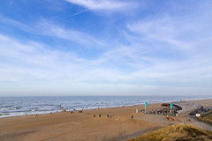 North Sea beach in Overveen in the Netherlands