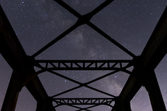 DSC_4044 (Jesus DTT) Tags: panorámica puentedehierro puente ferrocaril rio guadiana milkyway víaláctea ciudadreal
