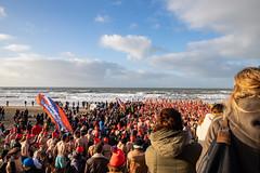 Traditional New Year's swim in Bloemendaal aan Zee
