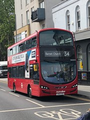 Decent hybrids on a long route set for an autumn contract change. | Metroline London Volvo Wrightbus Gemini 3 Hybrid working the 34 to Barnet Church. (alexpeak24) Tags: barnetchurch walthamstowcentral 34 lk64edx hybrid gemini3 wrightbus volvo london metroline