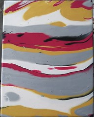 Metallic field (PP #4) (Morgane Batista) Tags: acrylic pour pouring paint painting fluid metallic red gold black silver pearlwhite demco artwork podge abstract metals wet gloss