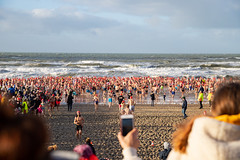 Celebrating the New Year in the ice-cold waters of the North Sea (Blomendaal aan Zee, the Netherlands)