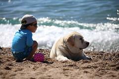 Think... (Nora077) Tags: beach playa pineda de mar niños kids nora toth