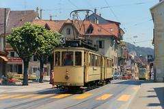 Peseux, Temple (Tim Boric) Tags: neuchatel neuchâtel peseux temple tram tramway streetcar strassenbahn tn 72