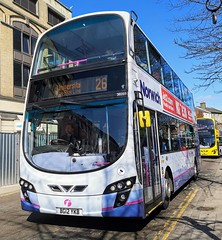 First Norwich 36269 is on Castle Meadow while on route 26 to University. - BG12 YKB - 1st April 2019 (Aaron Rhys Knight) Tags: firsteasterncounties firstnorwich 36269 2019 bg12ykb castlemeadow norwich norfolk first volvob9tl wrighteclipsegemini2