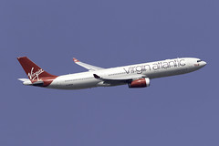 Virgin Atlantic A330-300 G-VKSS at London Heathrow LHR/EGLL (dan89876) Tags: virgin atlantic airbus a330 a330300 a333 a330343 gvkss london heathrow international airport takeoff 09r banking lhr egll