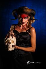 Woman of 1000 Years (Think Tunk) Tags: portrait portraits witch skulls skull devilhorns horns studio makeup makeupartist eyes darktheme dark beauty