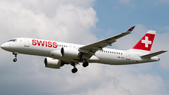 Swiss Airbus A220-300 HB-JCH (StephenG88) Tags: londonheathrowairport heathrow lhr egll 27r 27l 9r 9l boeing airbus may20th2019 20519 myrtleavenue renaissanceheathrow swiss swissinternationalairlines swr lx a220 a220300 a223 bombardier cseries cs300 300 hbjch cs3