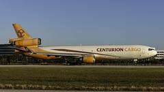 N986AR_MIA_Takeoff_Roll_09 (MAB757200) Tags: centurioncargo md11f n986ar aircraft airplane airlines airport jetliner mia kmia mcdonnelldouglas linedup runway09