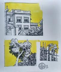 Parque de Monterols (Fotero) Tags: usk urbansketch uskspain urbansketching urbansketcher dibujo acuarela watercolor cuaderno cuaderno21 amarillo workshop barcelona lamiexperience