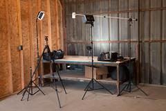 Video setup with LED & Umbrellas LT600S LED lights (jherg424) Tags: home ledlights montague nj productvideo studioshots tl600s pictype studio video warehouse