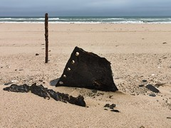 Wreck of the Dunedin Star; what's left of it from 1942