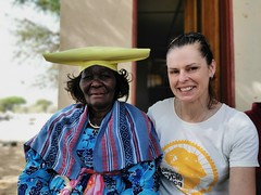 With the Puros village chief's wife. Puros is a Herero village