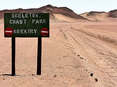 Our unmanned entry point into Skeleton Coast Park, after our permits were issued