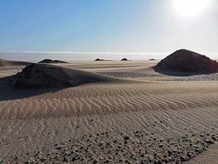 Small sand dunes near our campsite. The dunes offer us shelter from the wind.