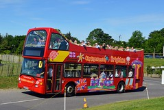 616 GX03SSV (PD3.) Tags: brighton hove city sightseeing sight seeing 616 gx03ssv gx03 ssv scania bus buses coach grandstand races racing derby 2019 epsom downs epsomdowns surrey investec open top topless topper