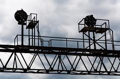 09-2746 (George Hamlin) Tags: pennsylvania summerhill railroad signal bridge norfolk southern railway ns sky clouds silhouette structural shapes steel photodecor george hamlin photography position light