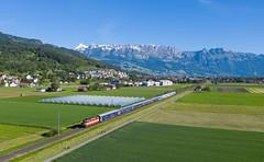 NJ 464/EN 414 (david_gubler) Tags: sbb schweizerischebundesbahnen swissexpress re420 108 11108 train railway nightjet euronight 464 414 mountains alpstein nighttrain