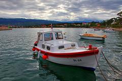 In the port (malioli) Tags: boat fishing sea hdr adriatic sky clouds morning landscape croatia hrvatska europe canon