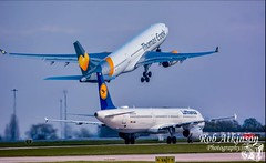 Thomas cook take off (R0BERT ATKINSON) Tags: thomascook a330 airbusa330 airplane airport takeoff runway manchesterairport robatkinsonphotography nikond7100 avation