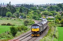 47854 @ Cradlehall (A J transport) Tags: class47 diamondjubilee 47854 diesel locomotive railtour westcoastrailways highlandmainline railway trains scotland srps