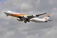 BA0185 LHR-EWR (A380spotter) Tags: takeoff departure climb climbout gearinmotion gim retraction airbus a340 300 ooabb ohlqc airbelgium bb kf internationalconsolidatedairlinesgroupsa iag britishairways baw ba ba0185 lhrewr runway27l 27l london heathrow egll lhr