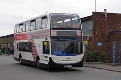 IMGP9848 (Steve Guess) Tags: stagecoach ribble 100 centenary morecambe lancaster whitelund lancashire england gb uk bus garage timesaver nbc alexander dennis enviro 400 dualpurpose semicoach retro heritage livery