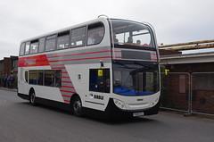 IMGP9849 (Steve Guess) Tags: stagecoach ribble 100 centenary morecambe lancaster whitelund lancashire england gb uk bus garage timesaver nbc alexander dennis enviro 400 dualpurpose semicoach retro heritage livery