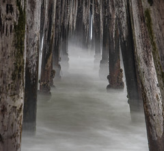 Narrow Minded (matthew:D) Tags: landscape imperialbeach nature water slow pillar waves california beach ocean longexposure motion pier barnicles framing morning foreground unitedstates clouds shutterspeed