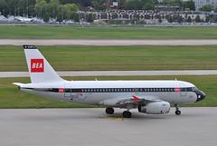 Taxi-out: 'SHT8W' (BA1444) LHR-EDI (A380spotter) Tags: departure taxiout apron airbus a319 100 geupj airbusa319100poweredbyiaev2500engines beabritisheuropeanairways redsquare19591968 britishairways10019192019 centenary retrocolours livery scheme retrojet 2019 ba100 baretrojet internationalconsolidatedairlinesgroupsa iag britishairwaysshuttle sht britishairways baw ba sht8w ba1444 lhredi stand502 502 gatea2 link56 twyb taxiwayb t5a terminal5 terminalfive london heathrow egll lhr
