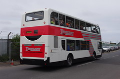 IMGP9850 (Steve Guess) Tags: stagecoach ribble 100 centenary morecambe lancaster whitelund lancashire england gb uk bus garage timesaver nbc alexander dennis enviro 400 dualpurpose semicoach retro heritage livery back rear