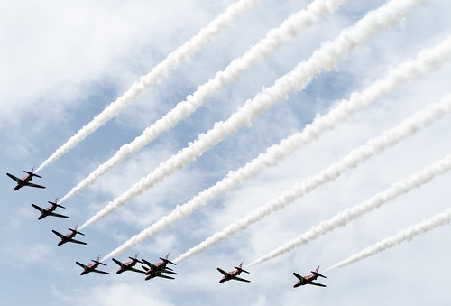 Red ARrows over Chawleigh