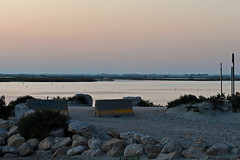 Saintes-Maries-de-la-Mer (stinkenroboter) Tags: saintesmariesdelamer sunset mediterraneansea camargue france stones water