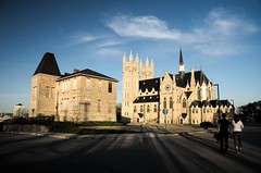 St. Agnes School for Girls and the Basilica (djhsilver) Tags: guelph ontario basilicca our lady immaculate conception roman catholic church french gothic revival architecture stone joseph connolly saint st agnes school