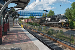 NS 191 at Ross (Travis Mackey Photography) Tags: ns 191 ross charlotte nc rline columbia district sd70ace train railroad locomotive trees sky sharon road west lynx station bridge