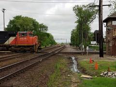 Waiting.. (P.F. Zuzich) Tags: eje cn canadiannational westchicago uprr unionpacific jbtower sd70m emd illinois interlocker train railfan railroad