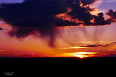 sunset in the rain (mariola aga) Tags: evening sunset sky sun clouds rain silhouettes mountains nature colorado coth coth5
