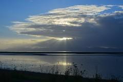 Sunlight on Firth of Thames (Lynne Karen) Tags: firthofthames sunrise sunbreak cloudy northisland newzealand sea water nature