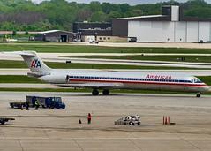 McDonnell Douglas MD-80 at MKE. (Noah VanHaag) Tags: milwaukee milwaukeewisconsin generalmitchellinternationalairport milwaukeemitchellinternationalairport kmke mke gmia flymke wisconsin unitedstatesofamerica