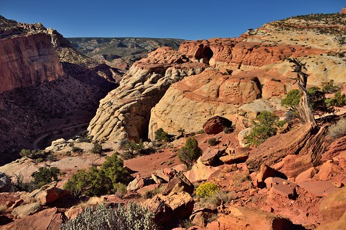 A Hint of the Cassidy Arch Across a Rugged Landscape (Capitol Reef National Park)