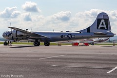 """Boeing B-29 Superfortress """"Fifi"""" at the Tri-Cities Regional Airport. (Railroad Gal) Tags: boeing boeingb29 b29 b29superfortress fifi airplane aviation ww2b29 tricitiesregionalairport blountvilletn tennessee usa commemorativeairforce b29squadron"""