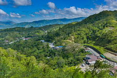 The Dalton Pass (risingthermals) Tags: philippines pilipinas southeast asia tropical country mountains hills mountainous view spectacular impressive beautiful stunning landscapes hdr nature natural heights elevation forests trees rural homes road residences luzon central