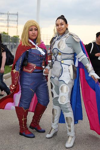 Captain Marvel and Valkyrie - Marvel
