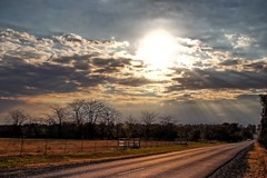 As the sun goes down. (Ian Ramsay Photographics) Tags: kirkham newsouthwales australia camden rays sunset spectacular clouds lightshow winter surrounding road